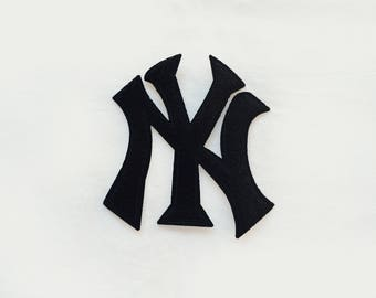 1x NYC New York City black or white sign emblem PATCH custom your jacket, clothes, hat, bag with an Iron On Embroidered Applique