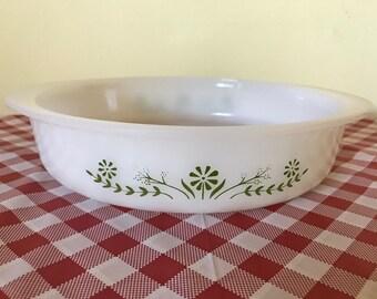 Vintage Glasbake Round 8-inch Baking Dish