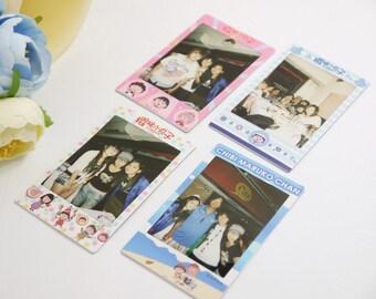 Sakura Maruko photo frame , Sakura Maruko Instax mini decoration, Kawaii Instax film skin, cute character photo frame skin