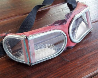 1960s Vintage Soviet Safety Goggles Glasses Motorcycle Russia USSR Soviet Goggles Welder's goggle Soviet army protective eyewear