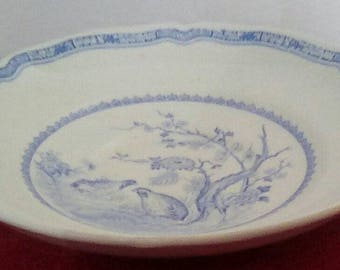 Furnival's Blue Quail Cereal Bowl
