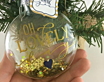 Set of 24 - Tree ornament favors, Holiday Wedding favors, Winter Wedding favors