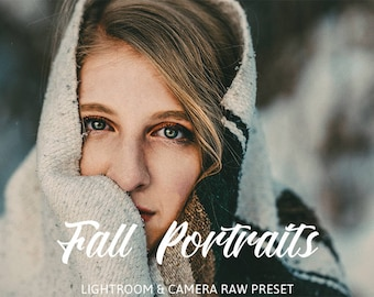 Fall Portraits Lightroom and Camera Raw Preset /Photoshop/Premium Lightroom Presets / Photography /Premium Presets by HubaFilter