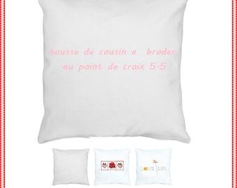 Cushion to cross-stitch canvas aida 5.5 white