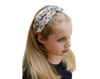Fourth July Outfit - 4th of July outfit - Patriotic Headband - Patriotic Outfit - July 4th - Boho Wide Headband - America Headband