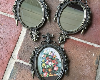 Vintage Baroque Italian Ornate Frames, Set of 3