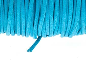 Turquoise 2.7 mm waxed cotton cord