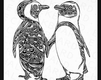Print - A sweet moment of Penguins, 2017