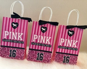 Victoria's Secret PINK Inspired Favor Bags, PINK Favor Bag, PINK Favor Bags