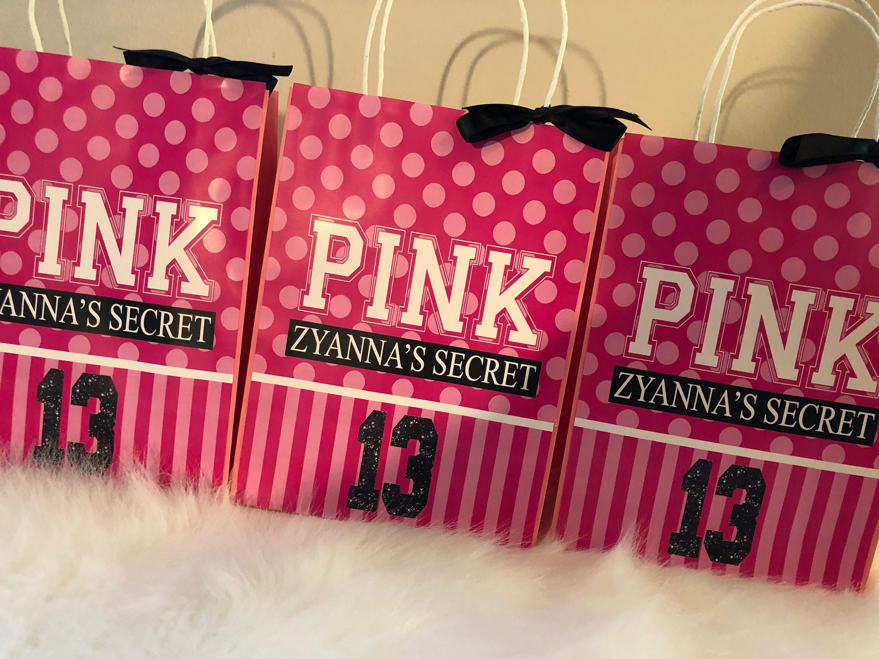 Victoria's Secret PINK Inspired Favor Gift Bags PINK
