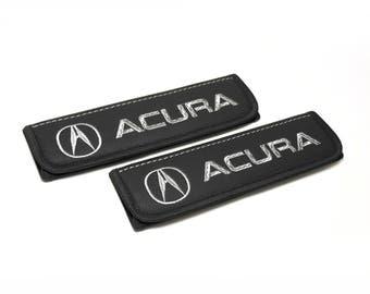 Acura - 2 pcs. Car Seat Belt Shoulder. Car Seat Strap Covers, Padded Strap Covers, Reversible Strap Covers.