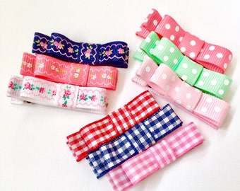 Baby hair clips, baby hair bows, No slip hair clips, Toddler hair clips, Toddler hair bows, girl hair clips