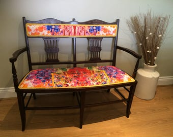Upholstered Edwardian Parlour Chair
