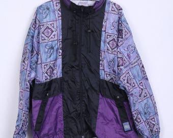 MARCEL CLAIR Womens 44/46 L Track Top Jacket Festival Vintage Nylon Waterproof