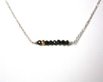 Diamond Necklace-Sterling Silver Diamond-Diamond Chocker Necklace-Genuine Black Diamond-Precious Necklace-Dainty Necklace-Chain Necklace