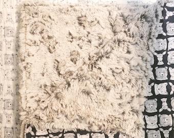 Woodland Baby Blanlet| Faux Fur Blanket/ Minky Baby Blanket/ Navy baby blanket/ toddler blanlet/ baby shower gift