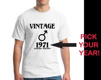 Birthday Shirt, Birthday Gift Men, Vintage Birthday T-Shirt, Custom T-Shirt, Shirt Gift Dad, Shirt Gift Husband, Men's T-Shirt Gift, Father