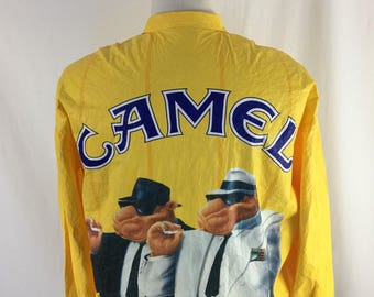 Vintage 90s Camel Cigarettes Yellow light Windbreaker 1992 size XL