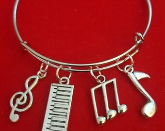 Keyboard Themed Charm Bracelet