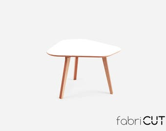 Kitchen table MOCA WHITE, dining table, wood table, round table, office table, caffee table,