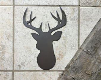 Metal Deer Head Sign