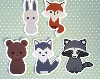 Forest animal stickers