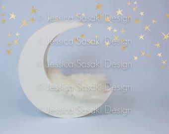 Digital background newborn composing, moon, stars, instant download