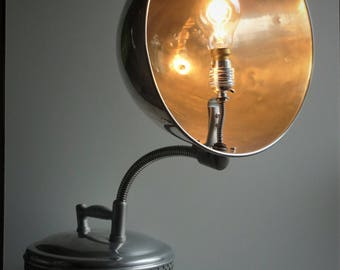 Vintage Medical Heat Lamp Up Cycled to Desk Accent Lamp