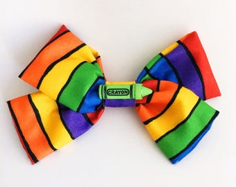 Colorful Crayons Bow