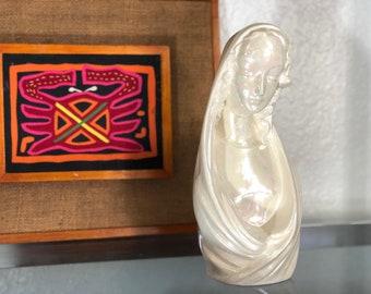 Vintage Ceramic Virgin Mother Mary Bust, Madonna