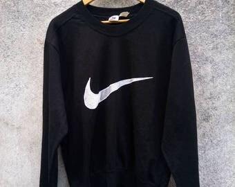 Vintage Rare! NIKE Big LOGO EMBROIDERY Sweatshirt