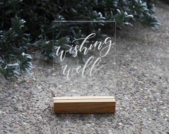 Wedding Wishing Well Sign. Acrylic Wedding Signs. Gifts Signage. Decorations. Perspex Wedding Signage.