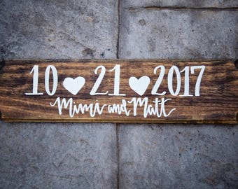 Personalized Wedding Date Sign