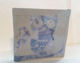 Owl Design Duct Tape Wallet