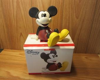 Disney Mickey Mouse Ceramic Bank in Original Box