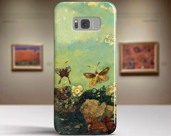 "Odilon Redon, ""Butterflies"". Samsung Galaxy S8 Case LG V30 case Google Pixel Case Galaxy J7 2017 Case and more. Art phone cases."