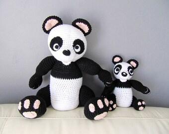 amigurumi plush toy stuffed Panda MOM and baby