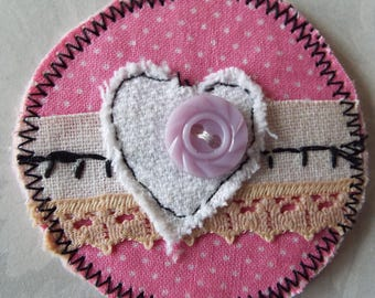Vintage Style Valentine Jewelry Brooch Pins Gifts Hearts Pink Brooch