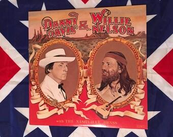 Vintage Danny Davis and Willie Nelson vinyl