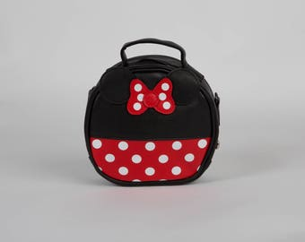 Red Black Polka Dot Minnie Mouse Baby Toddler Girl Purse Handbag