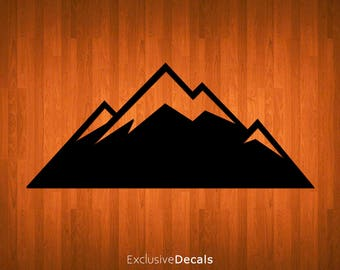 MOUNTAIN DECAL, macbook decal mountain, decals for yeti cups, laptop decal, car decal, yeti decal for women, yeti decal for men, vinyl decal