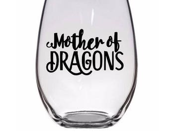Mother of Dragons Game of Thrones Wine Glass Tumbler Alcohol Drink Cup Barware Merch Massacre