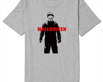 Halloween Michael Myers Unisex T Shirt Many Sizes Colors Custom Horror Halloween Merch Massacre