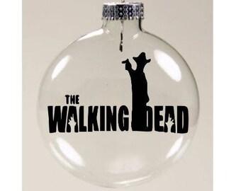 Carl Grimes Walking Dead Walker Zombie  Christmas Ornament Glass Disc Holiday Horror Merch Massacre