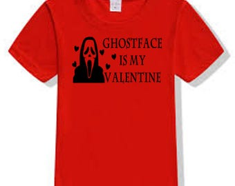 Scream Ghostface Killer Slasher Valentine's Day T Shirt Clothes Many Sizes Colors Custom Horror Halloween Merch Massacre