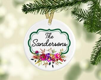 Keepsake Family Ornament, Personalized Christmas Ornament