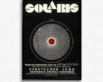 Polish Solaris Film Poster - 1971