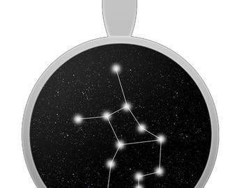 Virgo Constellation Pendant Necklace - Astrological Astrology Zodiac - Made When Ordered In The USA