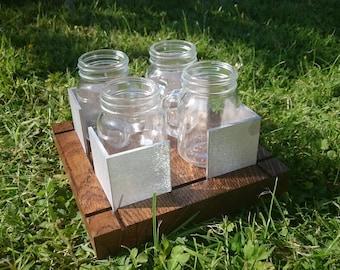 Funky Mason Jar Espresso Set (4-cup)  |  Oak, Aluminium and glass  |  Modern  |  Contemporary  |  Coffee