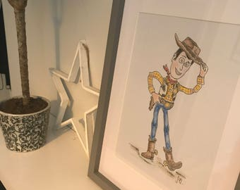 Hand Painted Woody Watercolour
